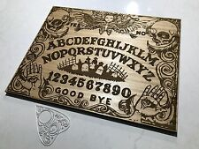 Wooden Spirit Ouija Board Game With Planchette. Graveyard Design. Large 50x40cm