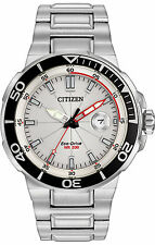 Citizen Endeavor Metalic Silver White Dial Men's Watch Eco Drive AW1420-55A