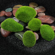 5pc Artificial Green Moss Stone Fake Rock Micro Landscape Decorative Accessories