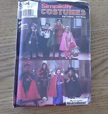 cape robe tunic witch costume SIMPLICITY 8004 multi size sewing pattern UNCUT