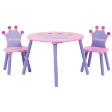 Charles Bentley Girls Wooden Princess Table & 2 Chairs Furniture Set Nursery