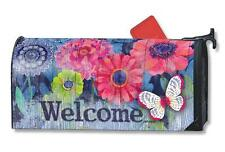 Indigo Garden Mail Box Wrap flowers magnetic Mailwrap mailbox cover Standard