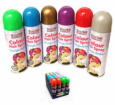 6 x Special Occasion Hair Spray Washable Temporary colours Birthday Party Night