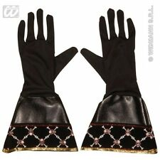 Pirate Gloves Leatherlook for Buccaneer Fancy Dress Accessory