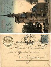 Karlovy Vary KARLSBAD 1906 Kronprinzessin Stephanie-Warte Handkolorierte Kunst