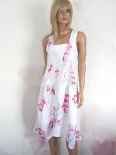 MADE IN ITALY Leinen Kleid Gr. L - XL , weiß NEU!!!