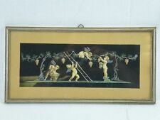 """(H318) Gouache hinter Glas """"Putten bei der Traubenlese"""" um 1890"""