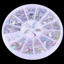 1 Box Rhinestone Nail Art Mini Shiny Oval Acrylic Gems Crystals Decoration