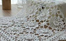 "18"" Hand Crocheted White Doily Floral Table Cloth Wedding Runner"