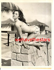 Vintage Jackie Lane RISQUE SWIMSUIT PINUP '59 Press Publicity Portrait