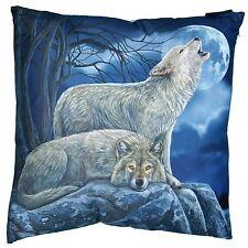 Wolves Howling Cushion & Insert 40cm High Lisa Parker Wolf Pillow Fire Retardant