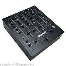 Numark M6 USB Black 4 Channel Live + Studio DJ Scratch Mixer + EQ + 2x Mic Input
