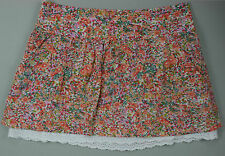 Dotti Mini Skirt Floral Size 8 Gathered EC Broderie Anglaise Hem Pockets
