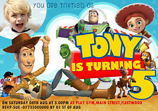 Personalized Birthday Party Toy story Invitations/Thank you cards X 8 Cards