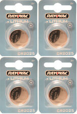 4 x Rayovac 2025 CR2025 DL2025 3V Lithium Batteries