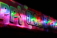 New Personalised flashing  happy 70th birthday banner party decorations