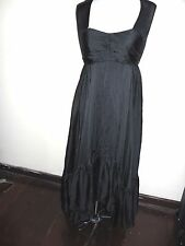 WAYNE COOPER silk DRESS size 1 / S / 8 NEW&tags $700 black maxi formal evening