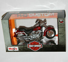 Maisto - Harley Davidson 2004 FLSTFI FAT BOY (Red) - Model Scale 1:18