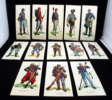 Uniforms of the Union And Confederacy 1861-65 Civil War Lot of 13 Cards