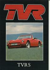 TVR S SALES BROCHURE  LATE 80'S