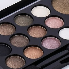 Pro Smoky Eye Shadow Palette Glitter Shimmer Neutral Nude Warm Makeup 14 Colors