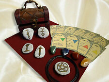 COMPACT WICCAN ALTAR KIT chest beginners witches starter set mini travel wicca