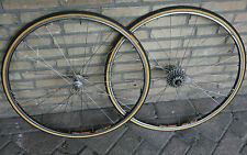 Vintage Sachs Maillard New Success FIR Pulsar 8 sp. tubular wheels wheelset 130
