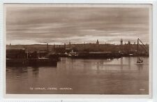 THE HARBOUR, EVENING, ABERDEEN: Aberdeenshire postcard (C12256)