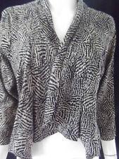 JAY JAYS Womens 3/4 sleeve Leopard Print Jacket size 12