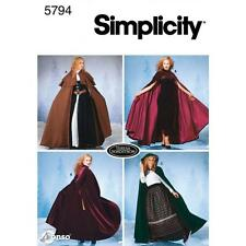 SIMPLICITY SEWING PATTERN MISSES' CAPES SIZES XS, S, M, L  5794