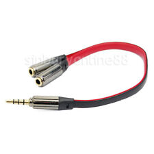 Gold 3.5mm Jack Male to 2  Female Cable Lead Audio Y Splitter for Headphone MP3