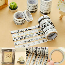 10Pcs Cute DIY Washi Paper Tape Adhesive Sticky Decorative Sticker Scrapbooking