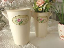 Vase*Gefäß*Pflanztopf*Deko*Shabby*Romantik*Landhaus*Keramik*klein*
