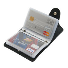 New Mens Luxury Soft Genuine Black Leather Credit Card Holder, Wallet, Purse