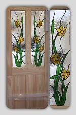 ( Brand New ) Daffodil Stained Glass Internal Door (Clear Pine)