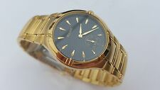 =    NEW PULSAR MEN'S GOLD TONE LUXURY WATCH