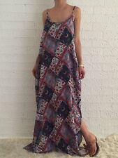 Women's Sleeveless Boho Maxi Long Cocktail Evening Party Dress Size 16-18-20