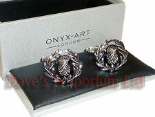 Scottish Thistle Cufflinks by Onyx Art - Gift Boxed - Scotland Scots