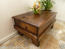 RUSTIC- SOLID WOOD CHEST/ TRUNK COFFEE TABLE