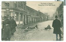 1911 The Battle of Stepney, London, Firing Line of Scots Guards pc unused
