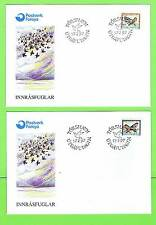 Faroe Island 1997 Birds on two First Day Covers