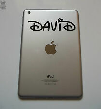 1 x Personalised Name Sticker Curly Waltz Font iPad Mini Vinyl Decal tablet kids