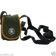 Small Compact Digital CAMERA CASE Bag Pouch with Strap Olive NEW Crumpler RRP£13