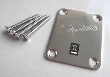 Squier Strat, Tele Halsplatte / Neck Plate + Schrauben
