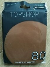 New-TOPSHOP-Tights- Size:Medium -Ginger coloured-80 denier