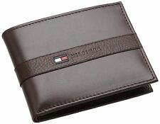 New Tommy Hilfiger Ranger Passcase  Men's Brown Leather Bifold Wallet 5673/02