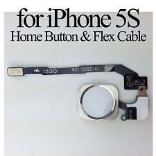 Silver Home Button Fingerprint ID Scan Sensor Flex Cable Fix Parts for iPhone 5S