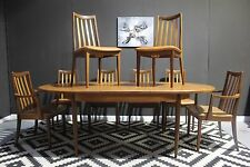 Large G Plan fresco dining set - 10 seater table and 8 chairs. £75 courier LON