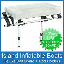 X-LARGE DELUXE BAIT BOARD & 2 SIDE ROD HOLDERS - Boat Fishing Cutting FREE POST