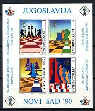 Yugoslavia 1990 SG#MS2665 Chess Olympiad MNH M/S #A35873
